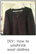 DIY: how to unshrink wool clothes
