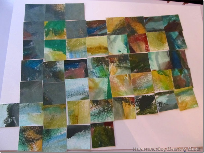 watercolor painting collage