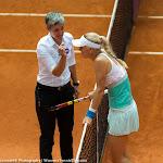 Caroline Wozniacki argues with Marija Cicak