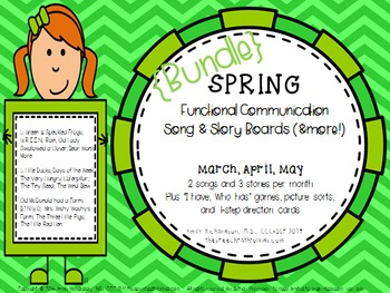 Spring Functional Communication Song & Story Boards Bundle