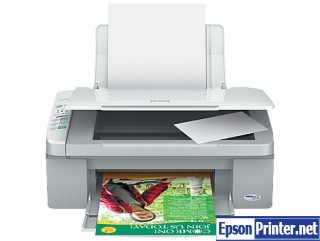 Reset Epson ME-300 printing device with software
