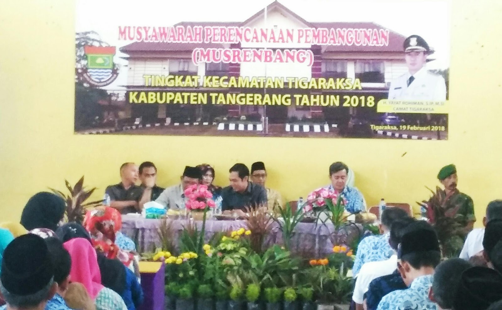 Acara Musrembang Kecamatan Tigaraksa Tahun 2018 Pioritaskan Tangerang Musyawarah Rencana Pembangunan Tingkat Yang Di Laksanakan Kec Kab Berlangsung Pada