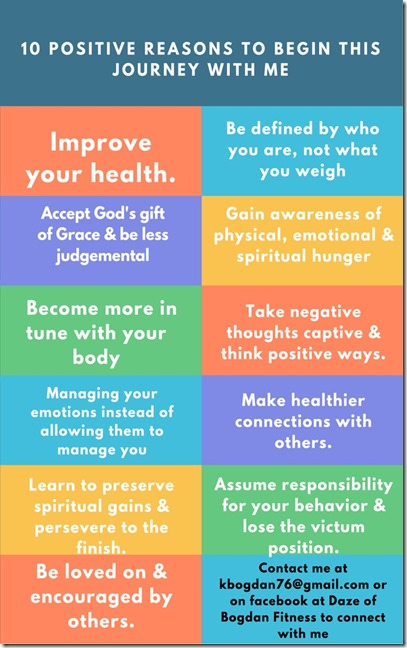 10 positive reasons to begin this journey with me