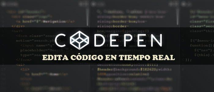 codepen edita codigo en tiempo real