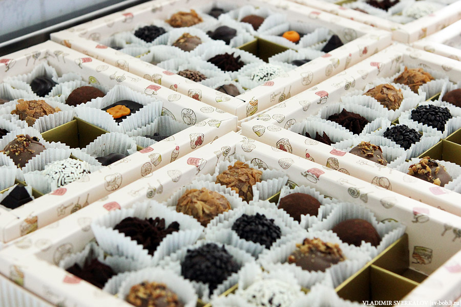 Как делают конфеты
