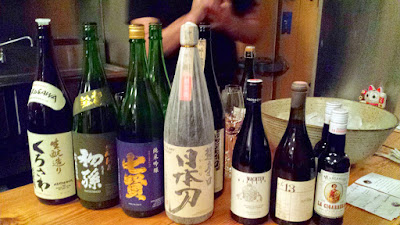 Sake and Wine Pairings for Nodoguro Twin Peaks dinner, courtesy of Paul Willenberg