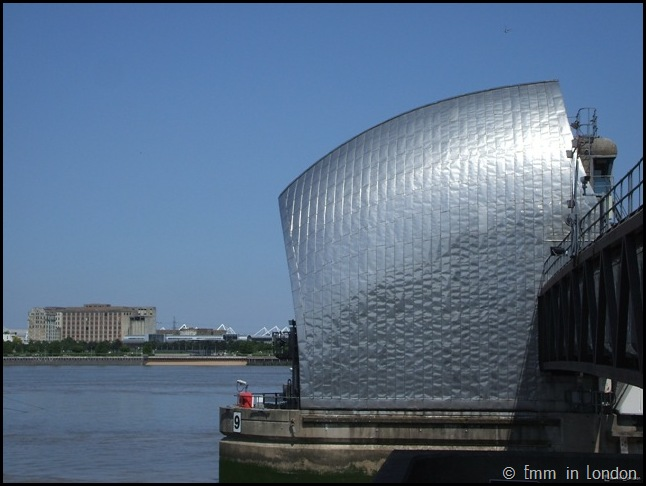 Close up of Thames Barrier
