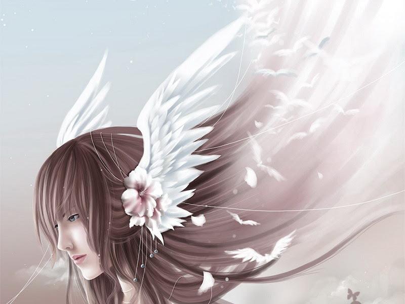 Angelic Wings In Hair, Angels