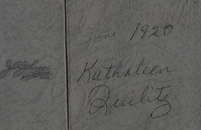 Kathaleen Quiletz 1920  FF ant back