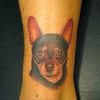 dog - Ankle Tattoos Designs