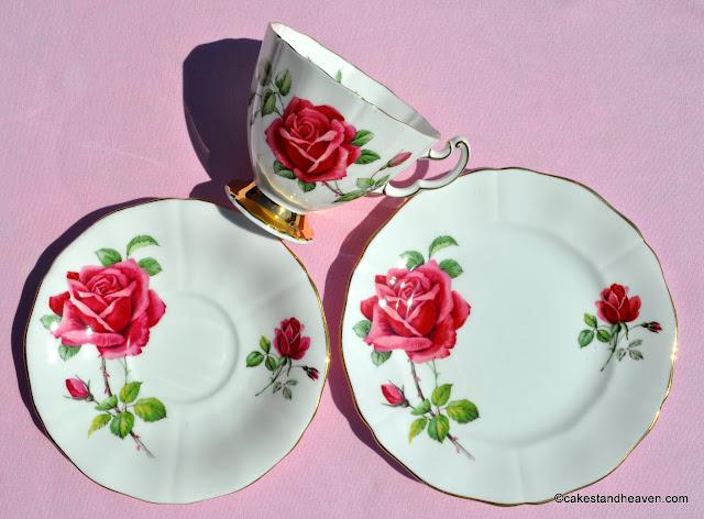 Adderley 1960s teacup, saucer and tea plate