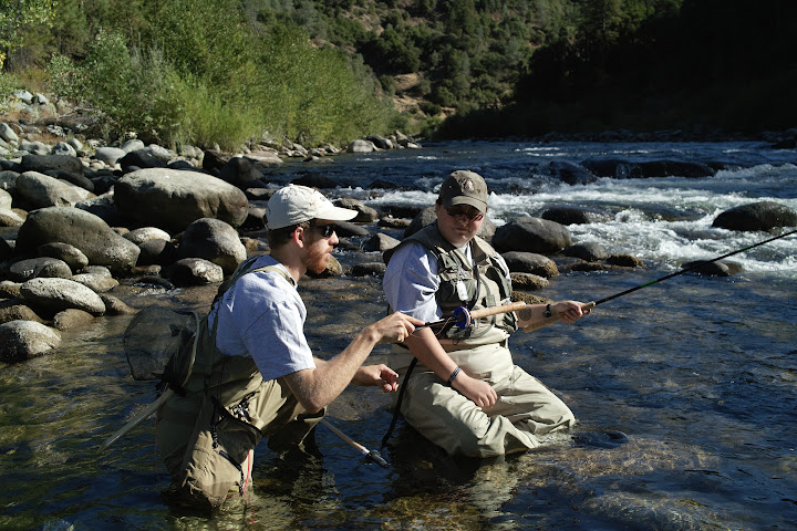 Tenkara fishing with war veteran
