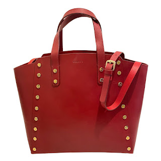 Sandro Red Leather Shoulder Bag