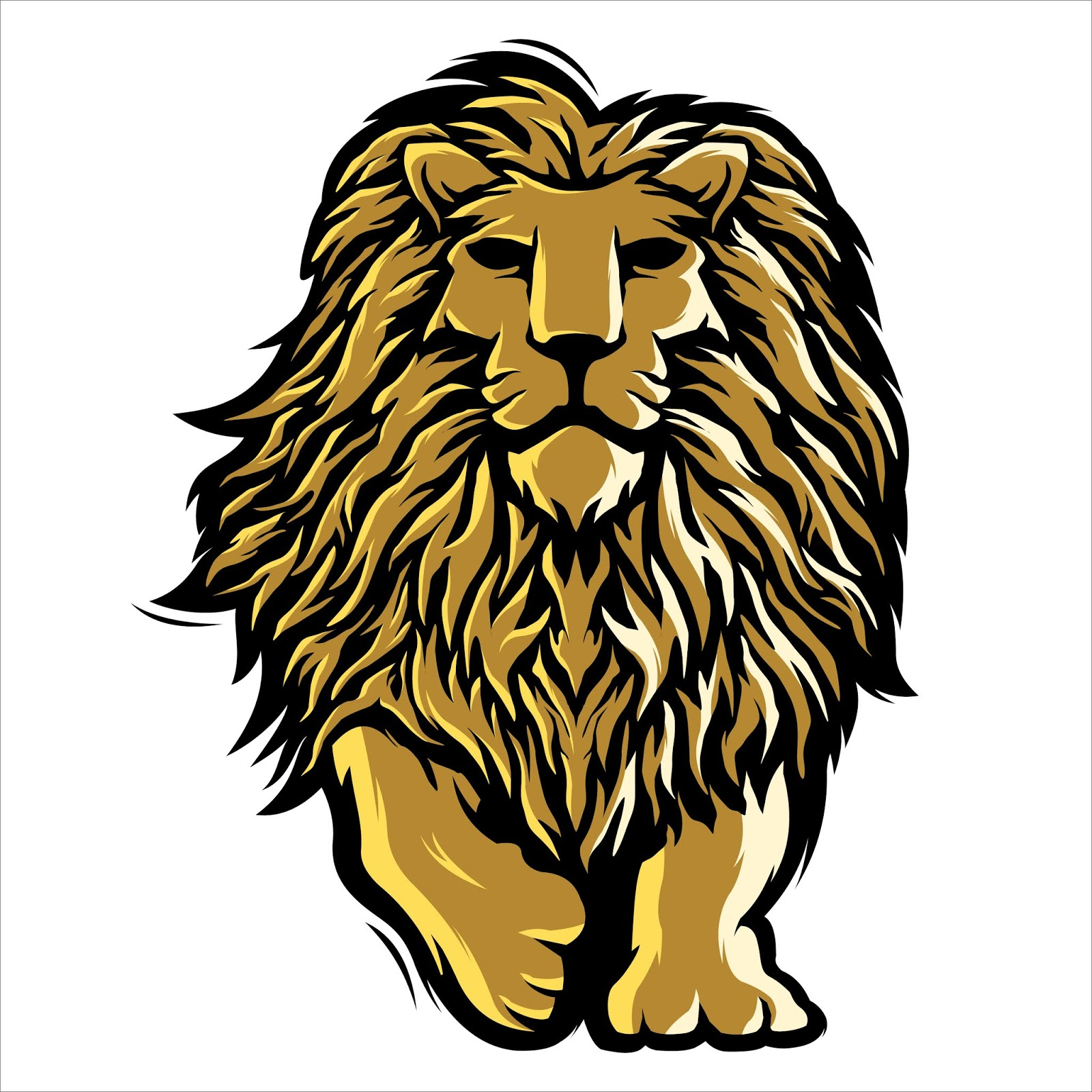 Mascot Lion Illustration Logo Free Download Vector CDR, AI, EPS and PNG Formats