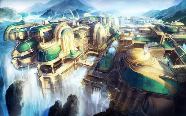 Waterfall Stronghold, Magical Landscapes 2