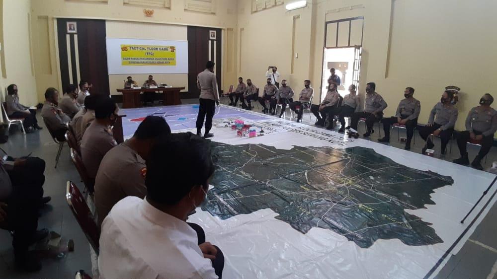 Terkait Pengamanan Unras Buruh, Polres Serang Kota Gelar TFG