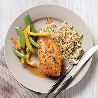 Glazed Chicken with Almond Quinoa.