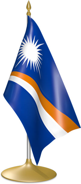 Marshallese table flags - desk flags