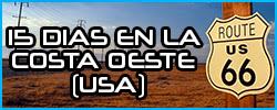 Planificar un viaje de 15 días a la costa Oeste de USA