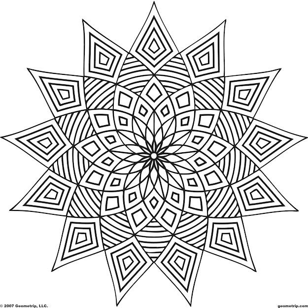 Mandalas Et Coloriages Abstraits Imprimables Pour Soulager Le Stress Et  Aider  Mditer Geometric Coloring Pagespattern