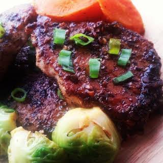 Sweet & Sour Glazed Pork Chops.