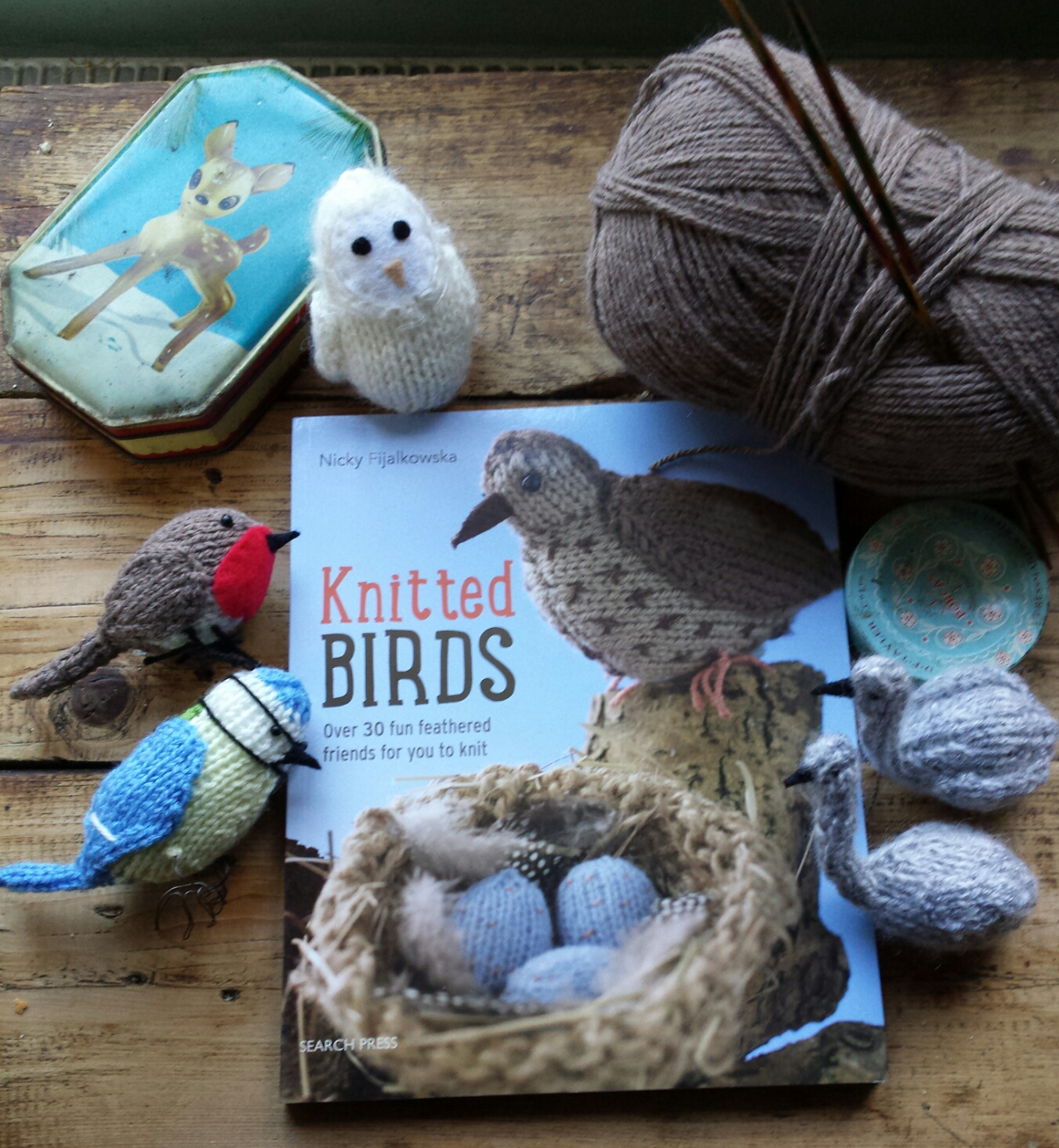 Knit for Victory: Knitted Birds for Christmas