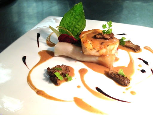 Bass Fillets with Lobster and Lobster Sauce