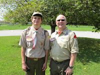 SPL (Zack) and Scoutmaster (Marc) Ready to head to camp