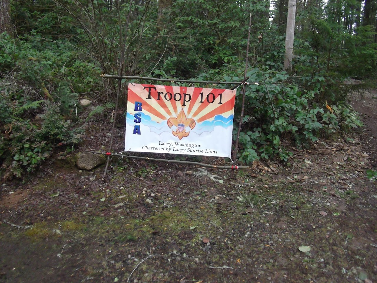 Our troop sign always looks good!