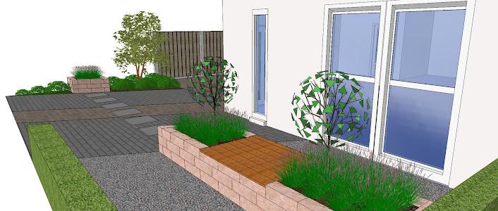 Voor- en achtertuin in nieuwbouwwijk