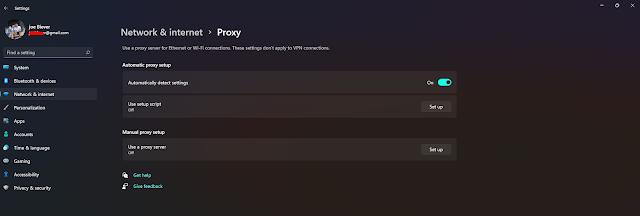 pengaturan server proxy