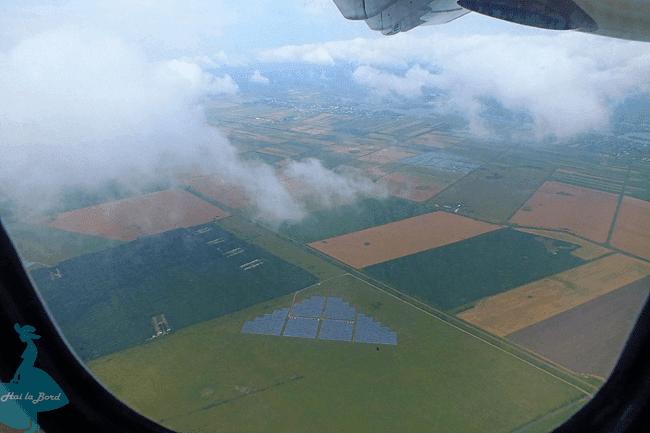 panouri solare vedere avion tarom