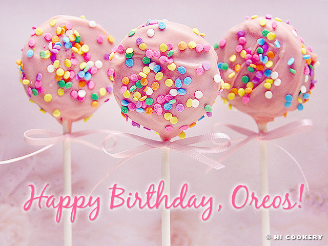 Oreo Birthday Cookie Pops