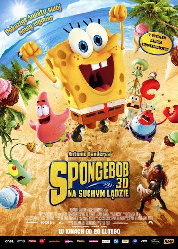 Przód ulotki filmu 'SpongeBob: Na Suchym Lądzie'