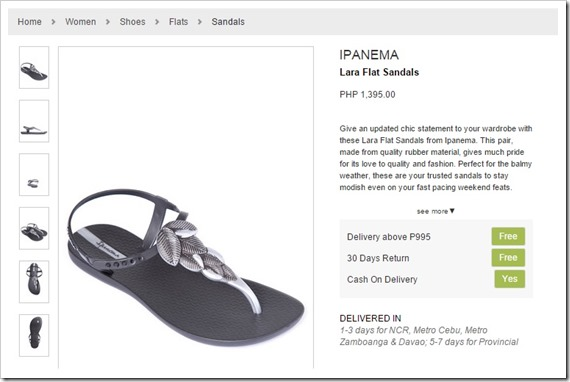 zalora sandals ipanema