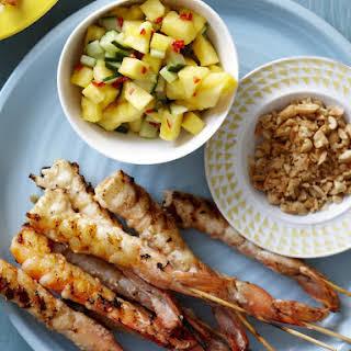 Marinated Shrimp with Pineapple Salsa.