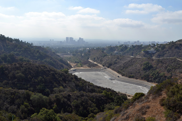 lower reservoir in Franklin Canyon is quite dry