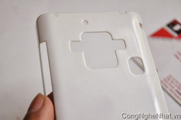 Ốp lưng và dán màn SHARP SH-02E cứng mầu trắng