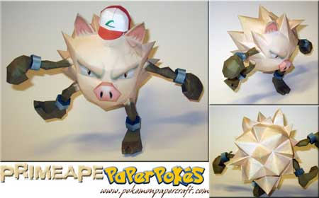 Pokemon Primeape Papercraft