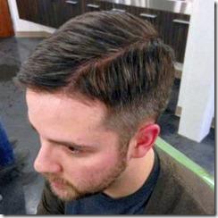Scissor fade comb over brown hair