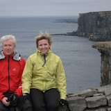 At the ruins of Dun Aonghasa, a fortress on the Aran islands