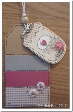 Handmade Gingham Jar Tags