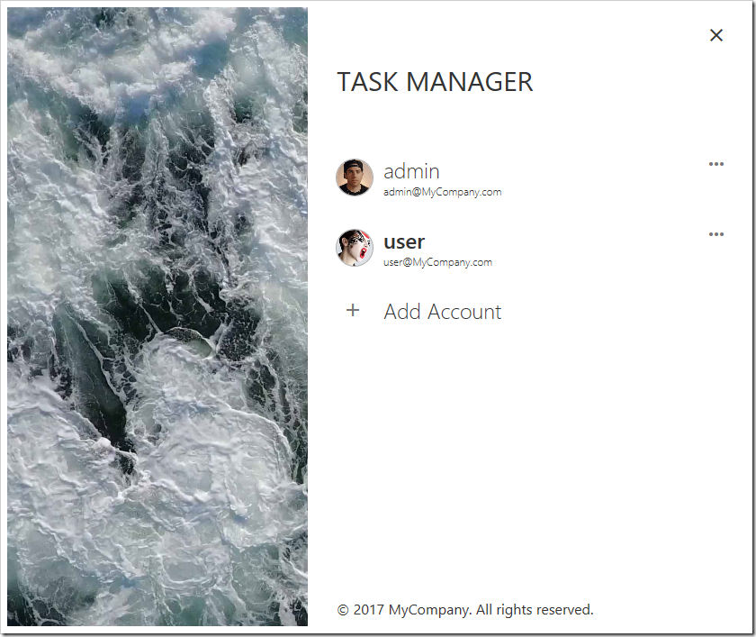 A list of users is displayed on the Identity Manager screen.
