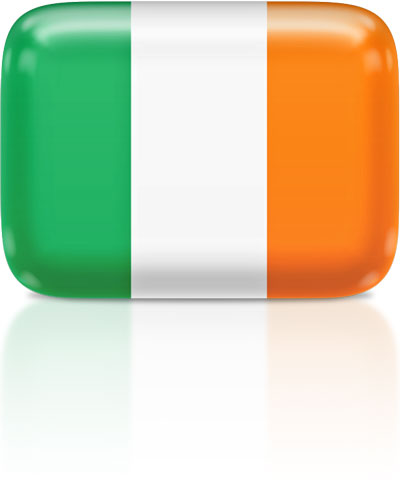 Irish flag clipart rectangular
