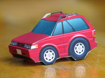 SD Mazda 626 Wagon Papercraft