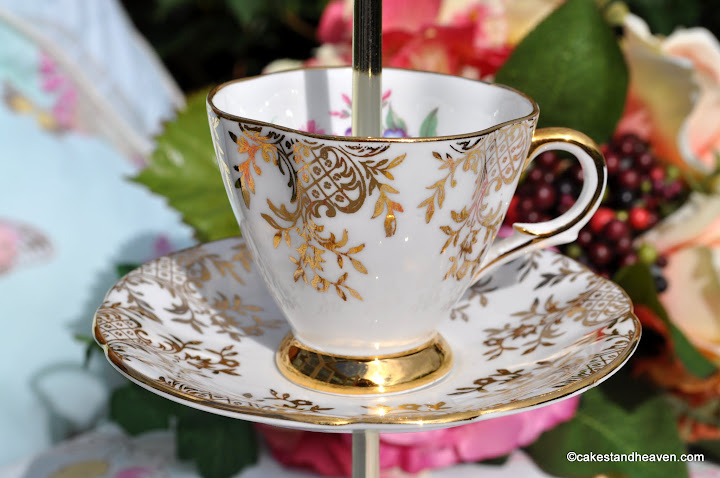 Mini Cake Stand Teacup and Saucer Top
