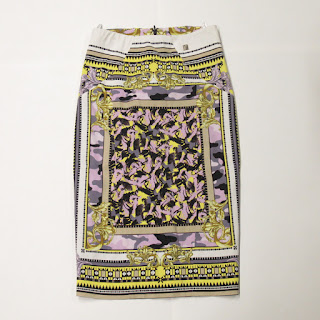 Versace Collection Graphic Skirt