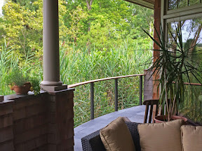 bronze aluminum deck railing idea