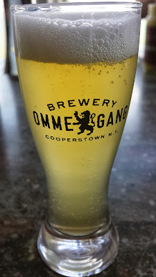 Ommegang Brewery, tasting of Witte Wheat Ale brewed with Sweet Orange Peel and Coriander