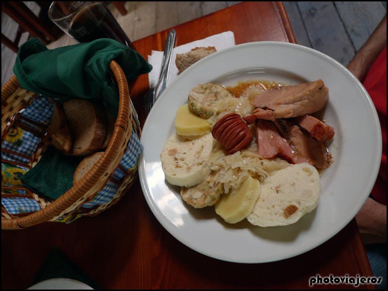 Comida típica en Praga